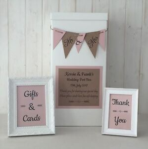 Image Is Loading Personalised Wedding Card Post Box Twine Bunting Gifts