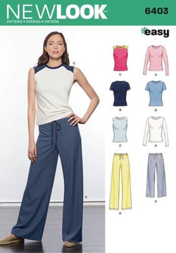 T Shirts. GRATIS UK P /& P-NEW LOOK donna facile Sewing Pattern 6403 Top