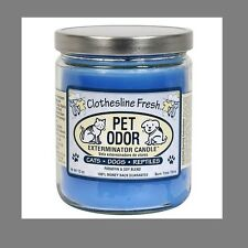 """Pet Odor Exterminator Candle """" Clothesline Fresh""""    Every Day Scents"""