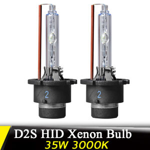 Pair-35W-3000K-D2S-HID-Xenon-Bulbs-Replace-Headlight-Replacement-Head-Light-Lamp