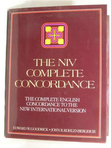 1 of 1 - NIV COMPLETE CONCORDANCE: THE COMPLETE ENGLISH CONCORDANCE TO THE NEW INTERNATIO