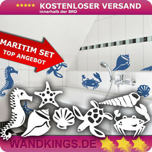 maritim fliesenaufkleber fliesen fliesendekor bad k che ebay. Black Bedroom Furniture Sets. Home Design Ideas