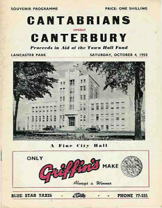 CANTABRIANS-v-CANTERBURY-1958-RUGBY-PROGRAMME