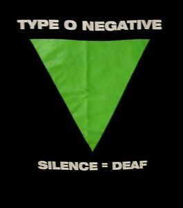 TYPE O NEGATIVE cd lgo 4 DICKS FROM BROOKYLN / SILENCE Official SHIRT LRG oop