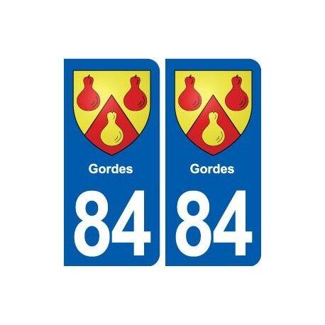 84 Gordes  blason autocollant plaque stickers ville arrondis