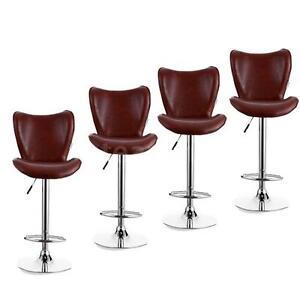 Exceptional Image Is Loading Modern Style Set Of 4 Adjustable Swivel Barstools