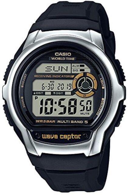 Casio WV-M60-9A, Digital Waveceptor Watch, Resin Band, Chronograph, Alarm