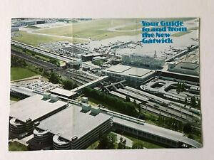 NEW-GATWICK-AIRPORT-1975-Railair-Link-8-pages-illustrated-brochure-British-Rail
