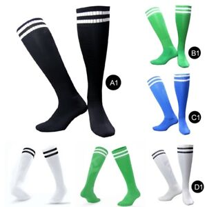 Unisex-Men-Women-Striped-Knee-High-Long-Socks-Sports-Football-Baseball-Soccer
