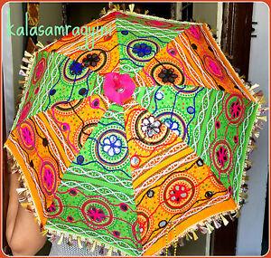 Wholesale Lot of 5 PC Traditional Indian Designer Handmade Sun Umbrella Parasols