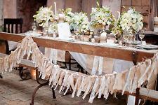 Wedding Backdrop Burlap Lace Prop Photo Garland Decoration Rustic Vintage Barn