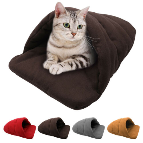 Self Heating Cat Igloo Bed Pet Tunnel House Room Cagve Kitten Dog Puppy Warm Mat