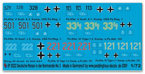 Peddinghaus 2022 1//72 Deutsche Panzer in der Normandie No 3