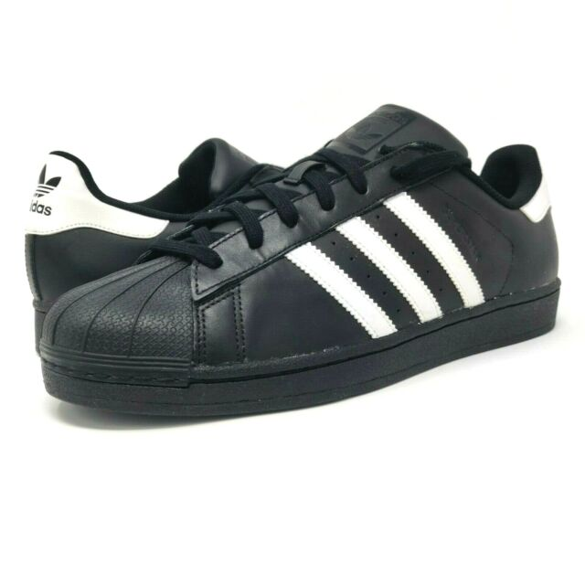 Adidas Originals Mens Size 13 Superstar B27140 Black White Gold Tongue Sneakers