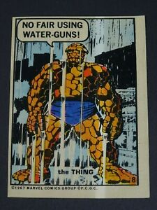 1967-Marvel-the-Thing-Sticker-PCGC-Philadelphia-Gum-Number-8