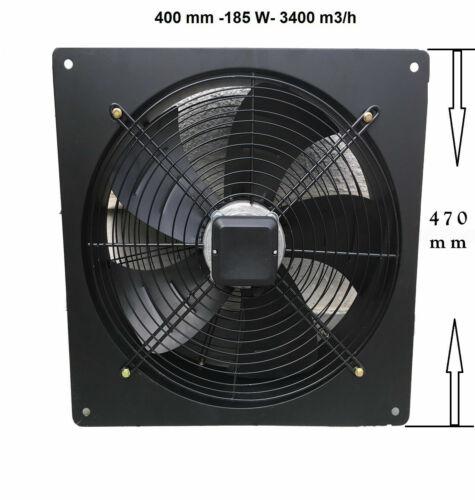 Axial Aération Extracteur Axial d /'échappement 300 350 400 500 mm 230 V