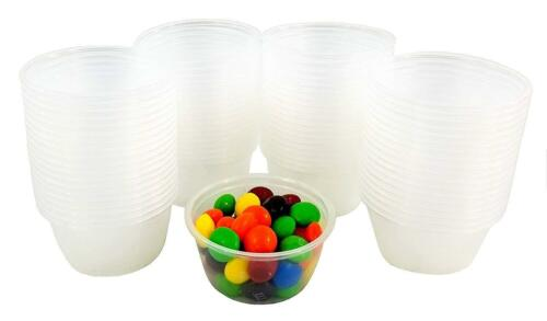 2 oz Large Jello Jelly Shot Souffle Portion Cups with Lids Option Clear Plastic