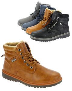 Zu Winterboots Details 1711 Herren Warm Winterschuhe Boots Stiefeletten Gefüttert Stiefel bgY7yvf6
