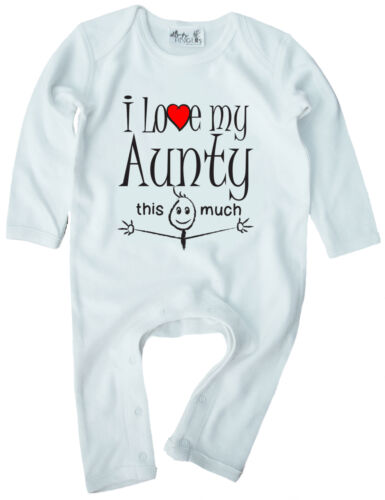 """Tante vêtements bébé /""""J/' aime ma tante autant/"""" bébé surpyjama nièce neveu Cadeau"""
