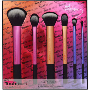 New-Real-Techniques-Makeup-Brushes-Core-Collection-Starter-Kit-Sponge-Sam-039-s-Pick