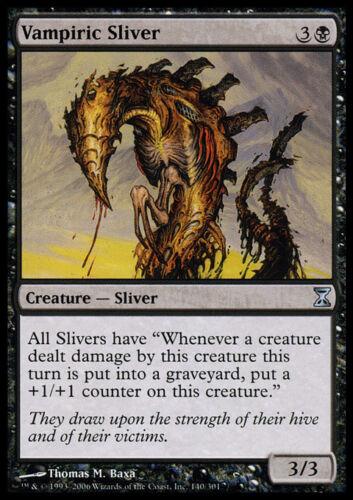 4 Vampiric Sliver ~ Near Mint Time Spiral 4x x4 Playset MTG Magic Black Card Ult