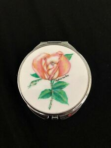 Personalized-Expression-Pink-Flower-Compact-Mirror