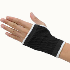 Black Elasticated Wrist Glove Palm Hand Support  Arthritis Brace Sleeve Brace