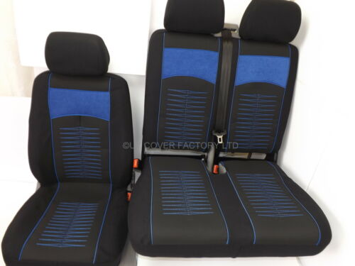 Ford Transit  Van 2006 Seat Cover Black Blue Piping Blue Stitch  IN STOCK