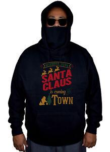 pull un Le en molleton arrive la avec noir Noël Père dans ville noir 7Ybf6gy
