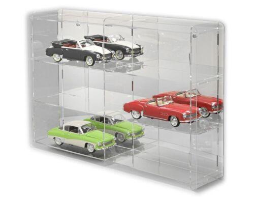 For 6 Model Cars SORA Model Car Display Cabinet 1//18 Reflective Back-Panel