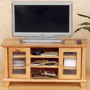 Puppenhaus Miniatur 1:12 Wohnzimmer TV-Schrank Weiß Holz Kabinett ...