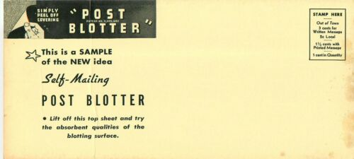 Clark Printing House Ink Blotter Self Mailer Postcard Promo Advertisement