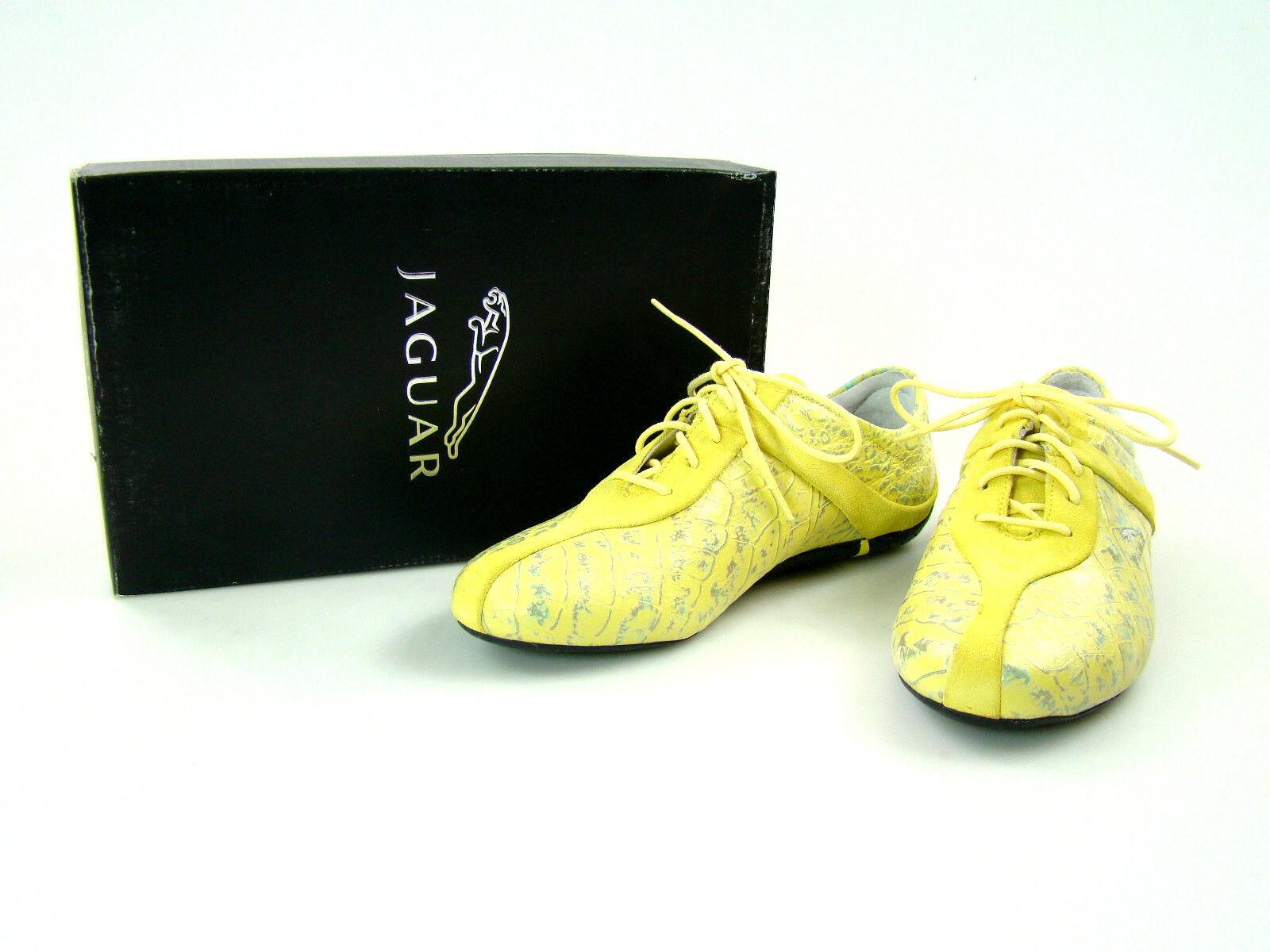 JAGUAR Damen Halbschuhe Sneaker 37 NEU Leder Halbschuhe Damen Schuhe sportlich gelb 4944 e659c9