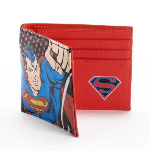 NEW Batman Glow in the dark or Superman Faux Leather Bifold Wallet