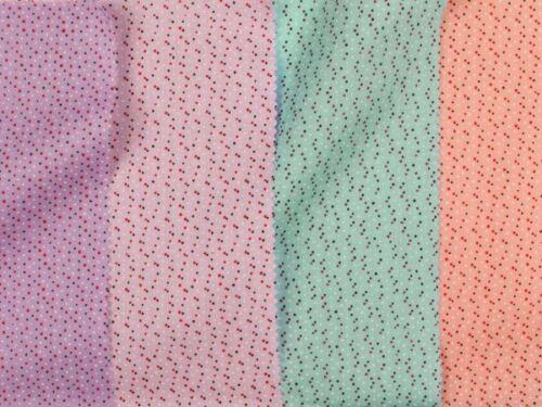 155cm winzige Punkte Baumwolldruck rosé