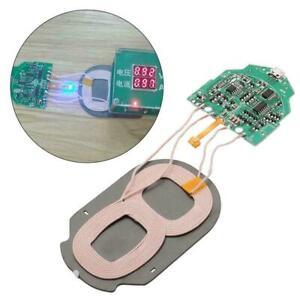 10W Cargador Inalámbrico Qi carga rápida PCBA circuito 2 Verde Bobinas dual Board F5X3