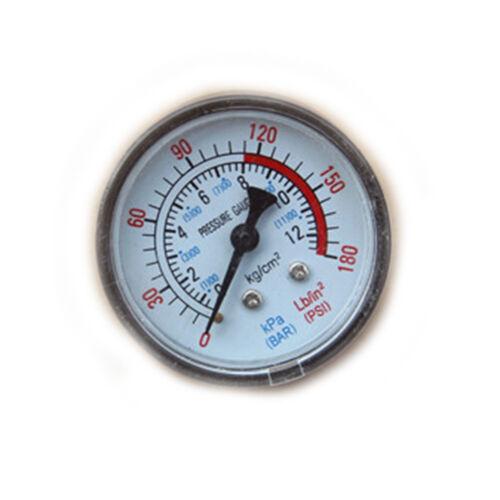 0-180PSI Compresor De Aire Neumático Medidor de presión de fluido hidráulico 0-12 bateus