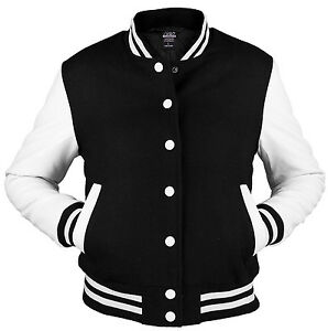 URBAN-CLASSICS-black-white-college-oldschool-jacket-woman-giacca-donna