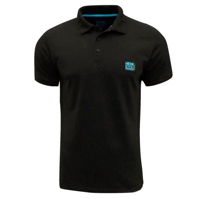 Henleys Men's Loffer Polo T Shirt Black