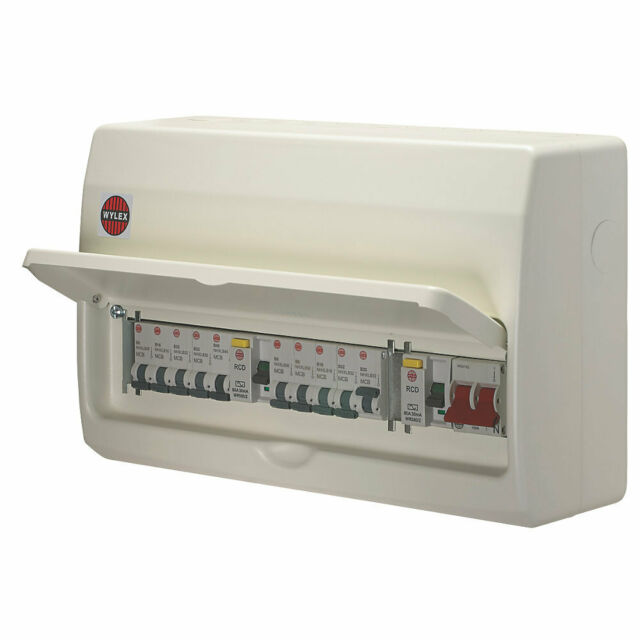 Wylex Amendment 3 15 Way High Integrity Consumer Unit Fuse Board Dual RCD  Mcb's for sale online | eBay | Wylex Fuse Box Rcd |  | eBay