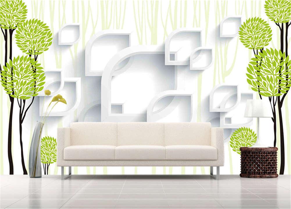 Hard Habitual Leaf 3D Full Wall Mural Photo Wallpaper Printing Home Kids Decor