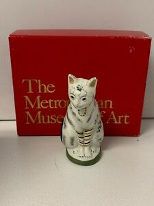 VTG-1993-The-Metropolitan-Museum-of-Art-Chalkware-Cat-Christmas-Ornament-NIB