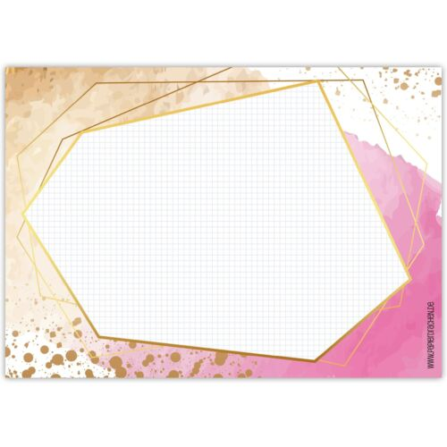 Papierdrachen Schreibtischunterlage DIN A3 Gold-rosa Brainstorm
