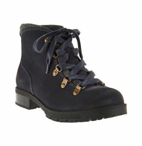 0fe63668005 Details about Clarks Faralyn Alpha Blue Suede Water Resistant Hiking Boots  Sz 12 NEW Women's