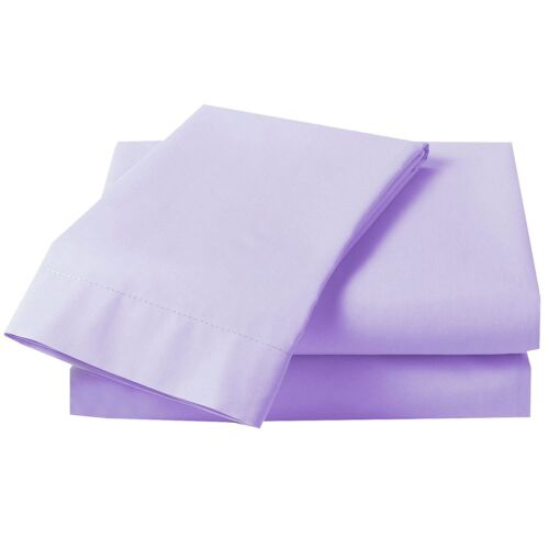 LoomLands BRAND Poly cotton Fitted Sheet Single Double king Plain Dyed colors