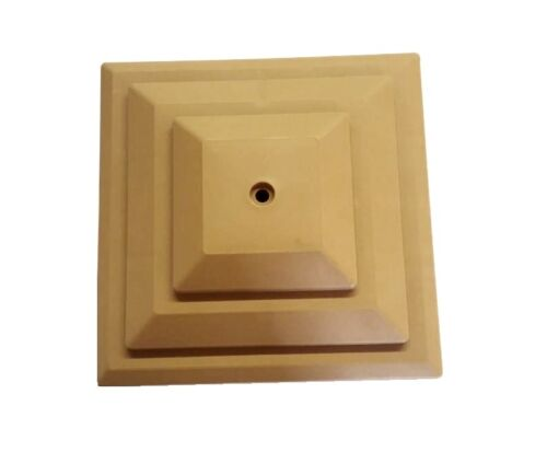 "MTS 15 x Harvest Gold Brown Clôture En Plastique 4/"" 100 mm Post Cap Top Crackle GT0050"