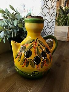 Image Is Loading Decorative Olive Oil Carafe Dispenser Handmade In Spain