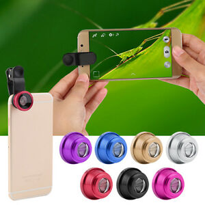 3 in1 Eye+ Wide Angle + Macro Camera Clip-on Lens for Universal Cell Phone