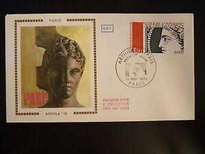 Distingué France Premier Jour Fdc Yvert 1833 Arphila Au Grand Palais 4f Paris 1975