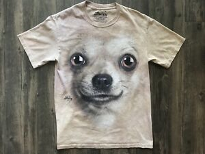 Chihuahua-Face-Adult-T-Shirt-The-Mountain-Size-Small-Sz-S-Dog-Lover-Pet-Animal
